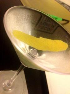 Gin Martini w/ Lemon Twist