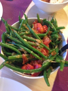 Tomato Anchovy Haricots Verts with Garlic